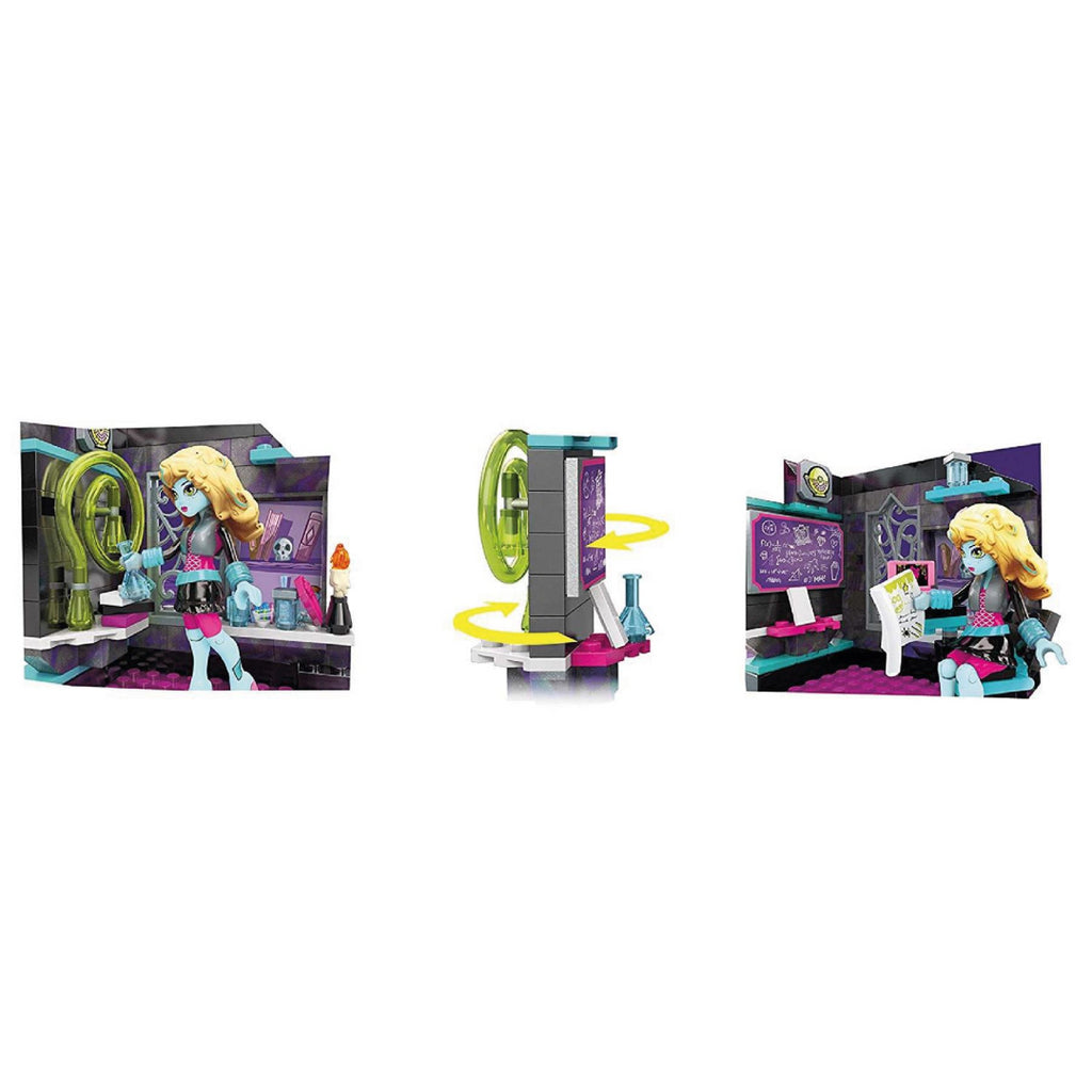 Mega Bloks Toy - Monster High Biteology Class 194-Piece Playset with Lagoona Doll - Maqio