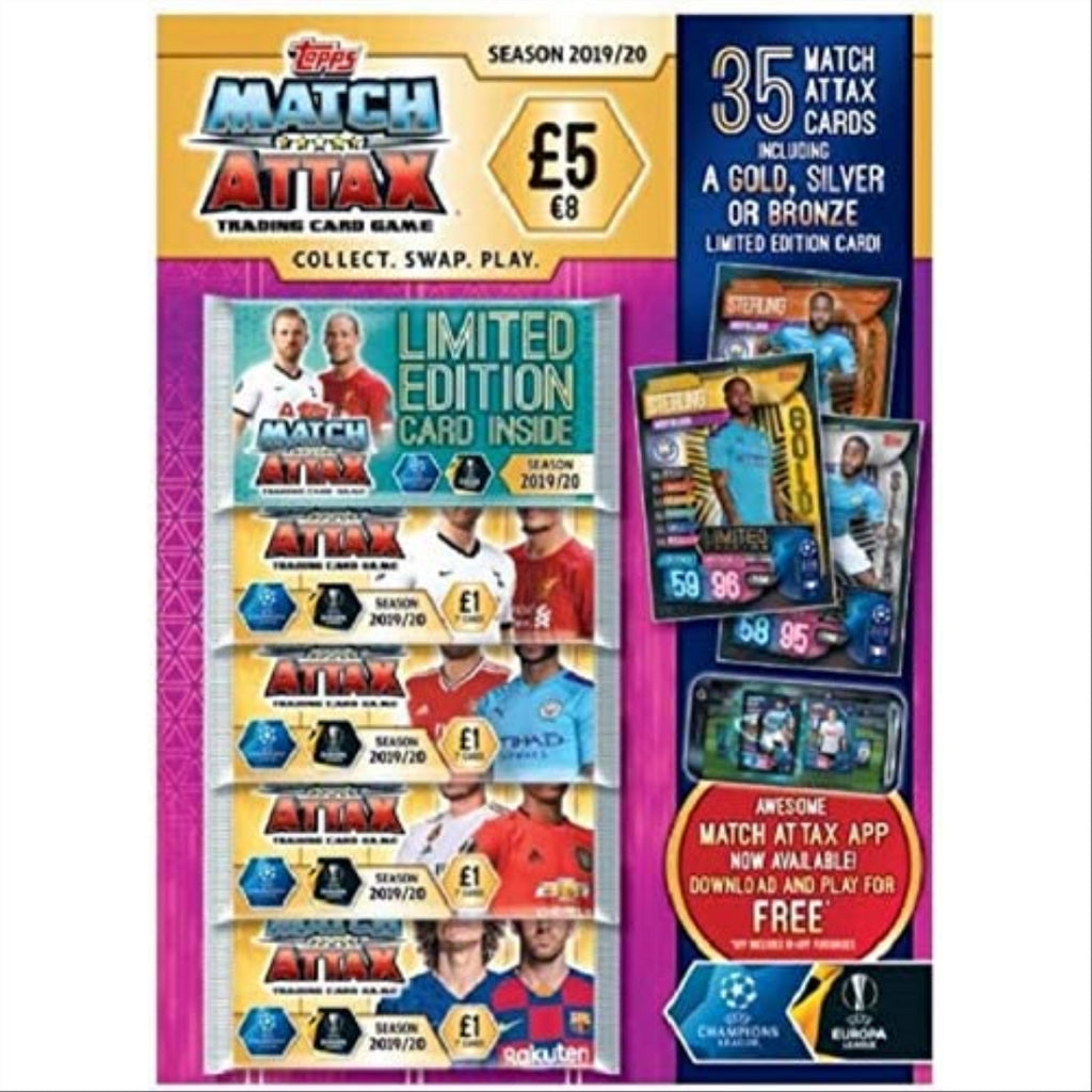 Topps Match Attax 2019/20 Trading Card Game Multipack - 35 Cards Inside! - Maqio