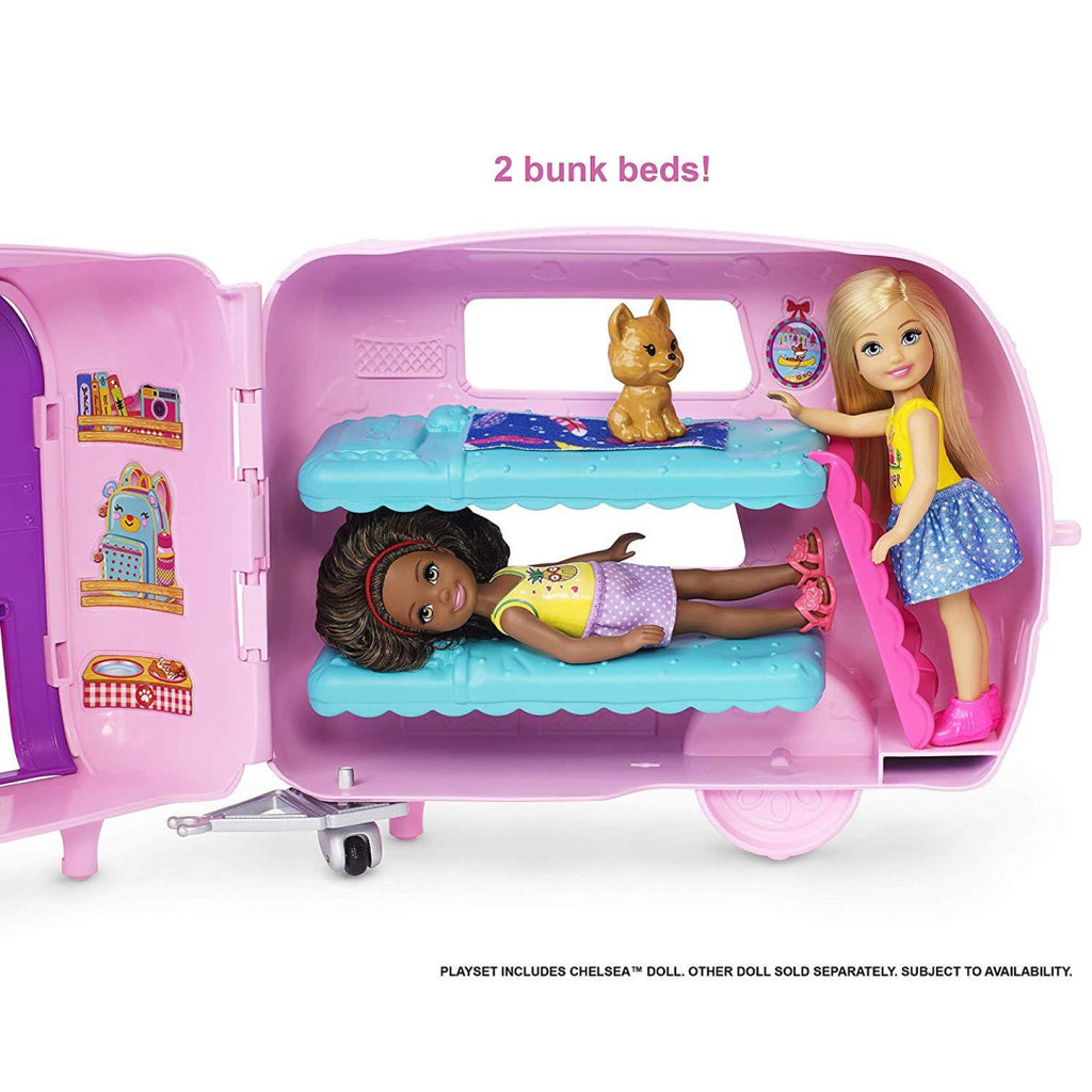Barbie FXG90 Club Chelsea Camper Playset with Doll - Maqio