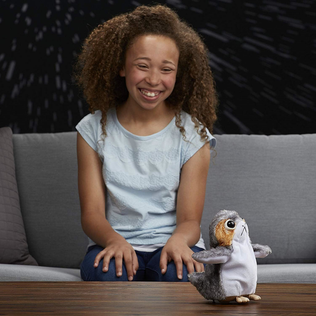 STAR WARS The Last Jedi Porg Electronic Plush Doll Toy - Maqio