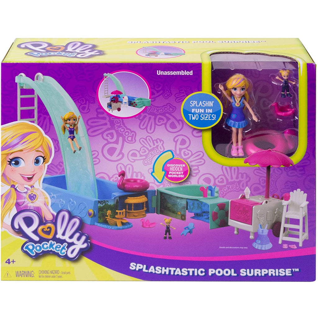 Polly Pocket Splashtastic Pool Surprise Playset FTP75 - Maqio