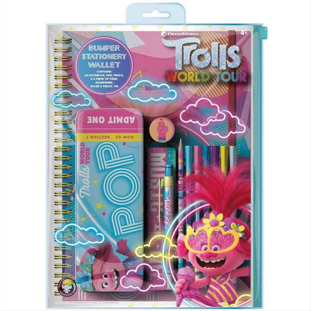 Trolls Movie Bumper Stationery Wallet - Maqio