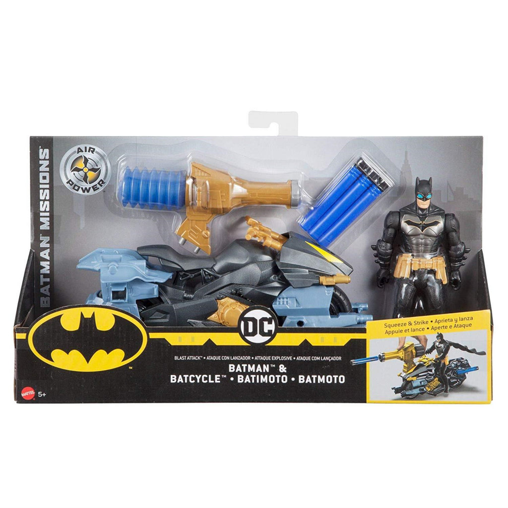 Batman Missions Air Power Blast Attack/Bat Cycle Figure and Vehicle Set FVY26 - Maqio