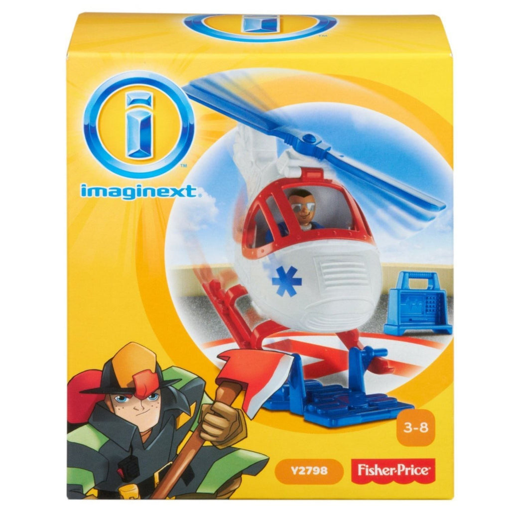 Fisher Price Imaginext Y2795 City Helicopter and Medic Figure Playset Toy - Maqio