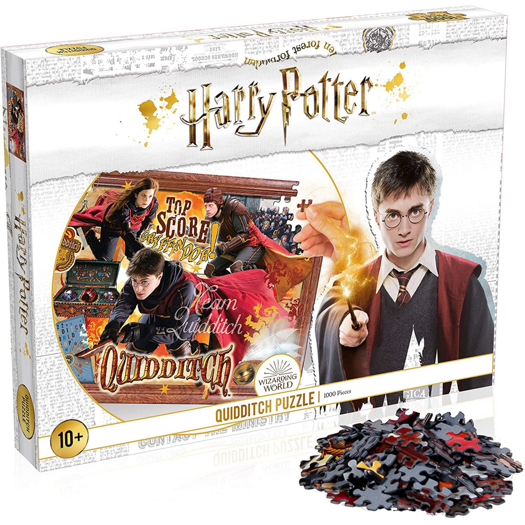 Winning Moves Harry Potter Quidditch 1000-piece Jigsaw Puzzle (White) - Maqio