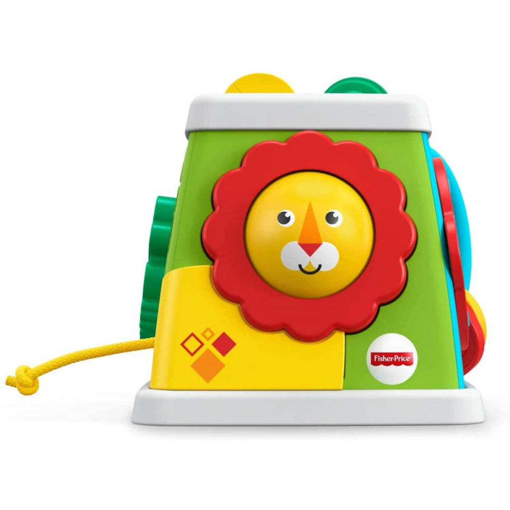 Fisher-Price 5 Sided Activity Cube Baby Activity Toy 6 Months Plus FYK64 - Maqio