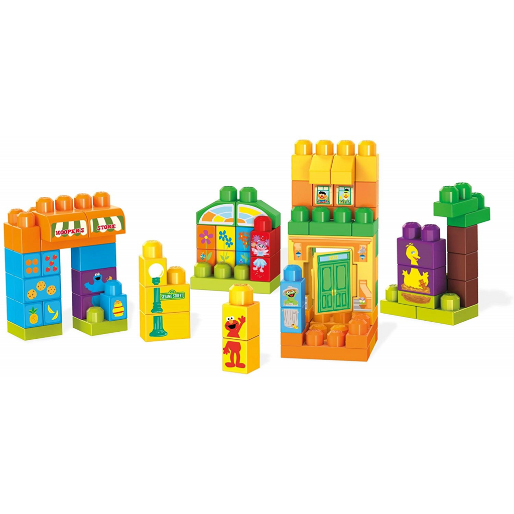 Mega Bloks GDB51 Lets Build Sesame Street Buildable Playset - Maqio