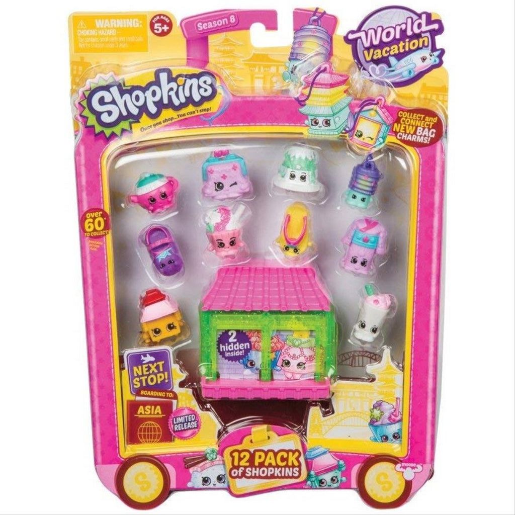 Shopkins Series 8 Wave 2 - World Vacation Asia 12 Pack Toy - Maqio