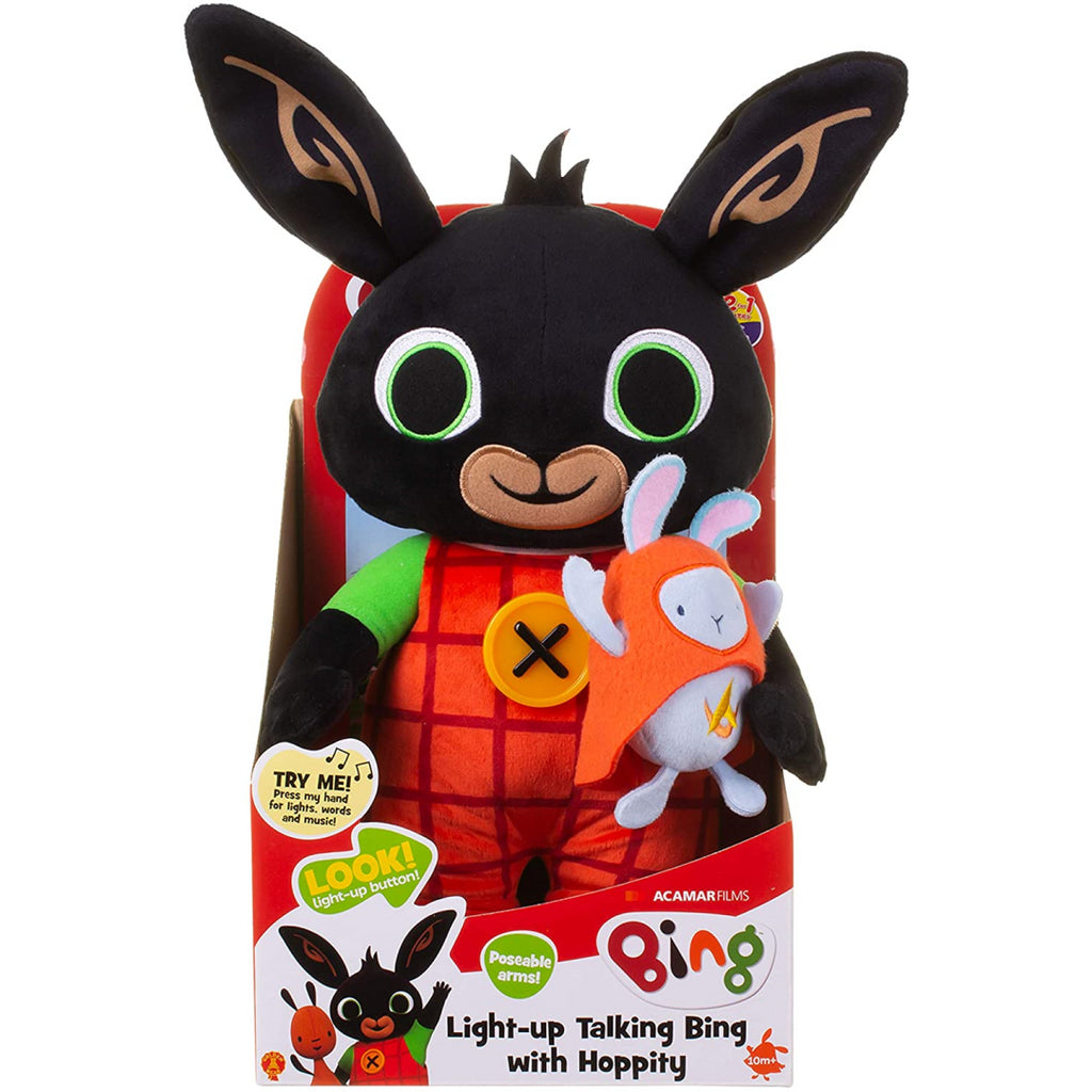 Light Up Talking Bing with Hoppity Soft Toy - Maqio