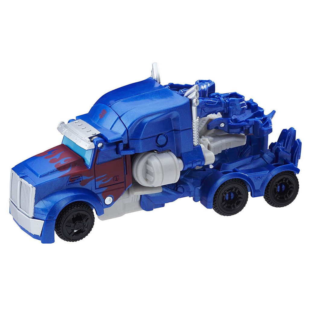 Transformers The Last Knight 1-Step Turbo Changer Optimus Prime Figure - Maqio