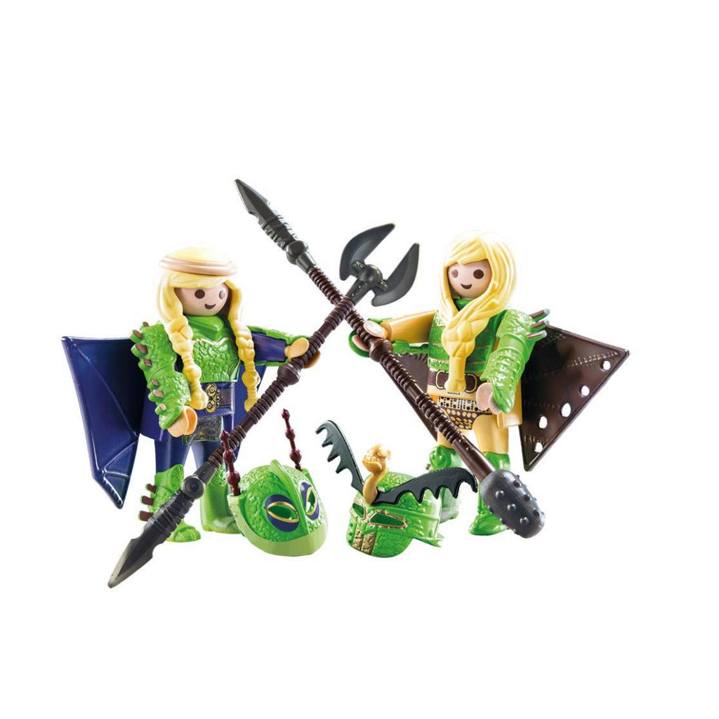 Playmobil 70042 DreamWorks Dragons Ruffnut and Tuffnut with Flight Suit, Various - Maqio