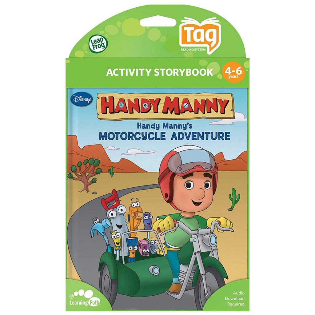 LeapFrog Tag Book: Disney Handy Manny's Motorcycle Adventure (Works with LeapRea - Maqio