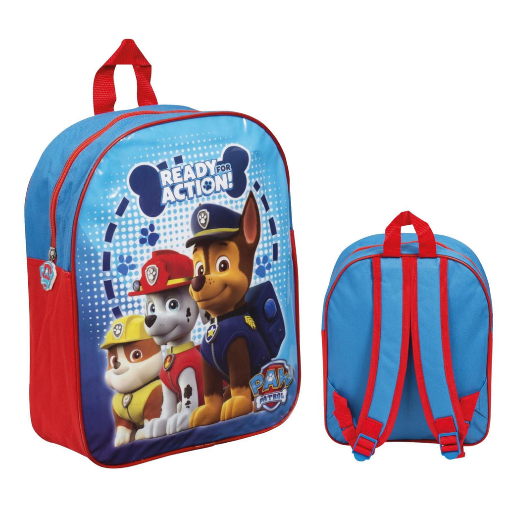 Paw Patrol - Authentic Official Licensed School Backpack Chase Marshall Rubble R - Maqio