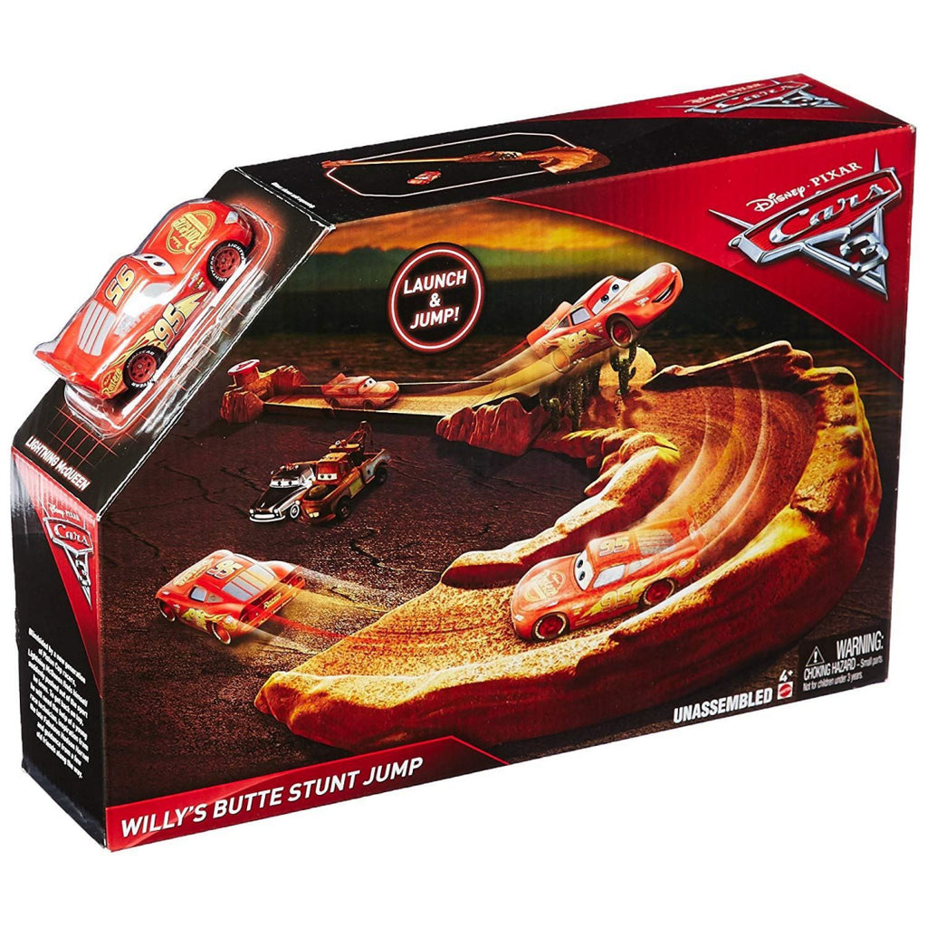 Disney Pixar Cars 3 Willy's Butte Stunt Jump Playset - Maqio