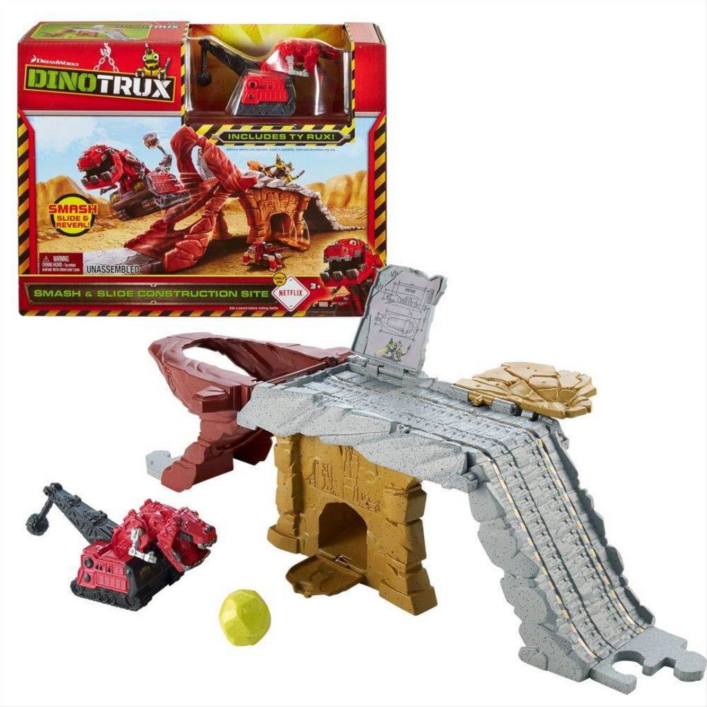 Construction Site with Vehicle T-Rux | Game Set | Dino-Trux | Mattel CJV83 - Maqio