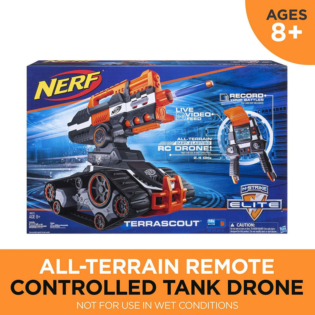 Nerf N-Strike Elite TerraScout All-Terrain Remote Controlled Tank Drone - Maqio