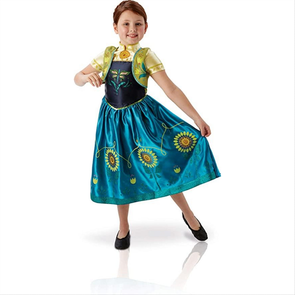 Rubie's Frozen Fever LARGE Anna Costume for Children 7-8 Years - Maqio