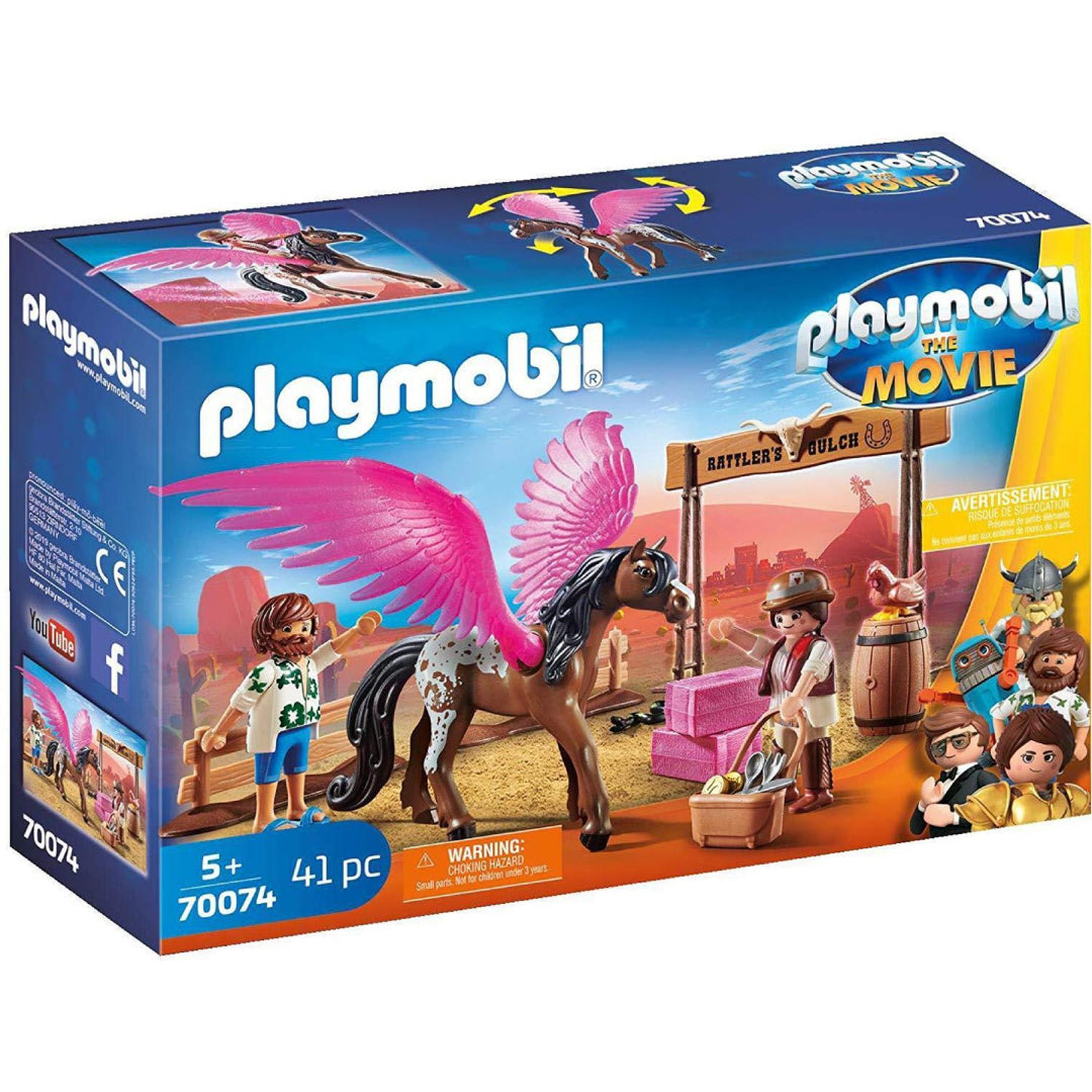 Playmobil the Movie 70074 Marla and Del with Flying Horse Toy Playset