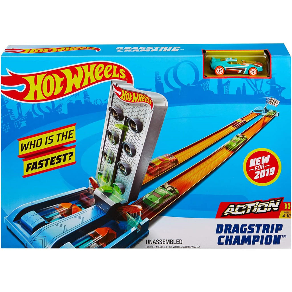Hot Wheels GBF82 Dragstrip Champion Playset (GBF81) - Maqio