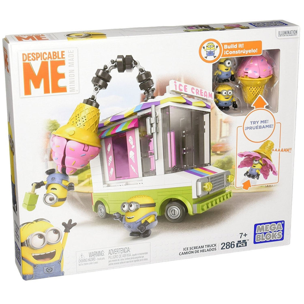 Mega Bloks DPG73 Despicable Me Minions Ice Cream Truck Construction Playset Toy - Maqio