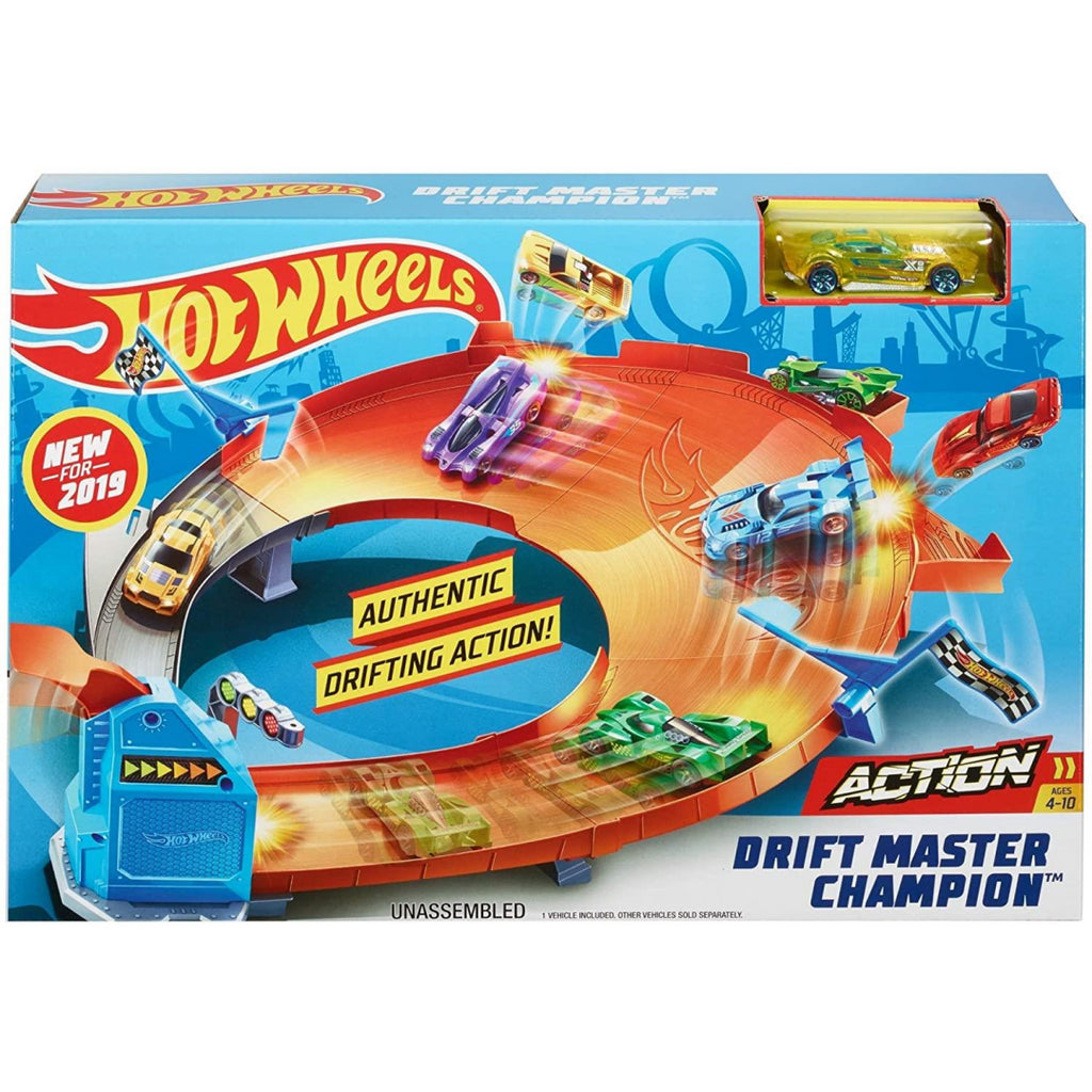 Hot Wheels Drift Master Champion Playset GBF84 - Maqio