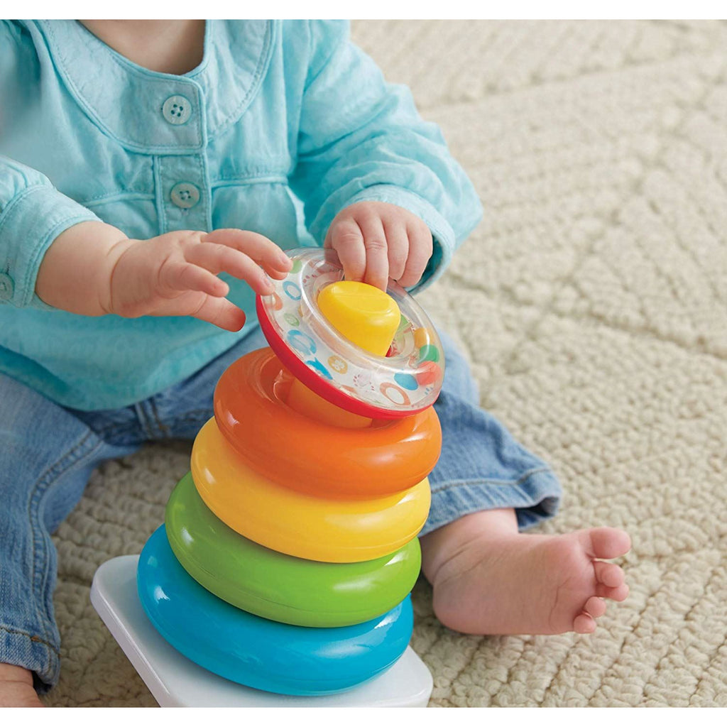 Fisher-Price BLR79 Rock-a-Stack Stacking Toy Rings - Maqio
