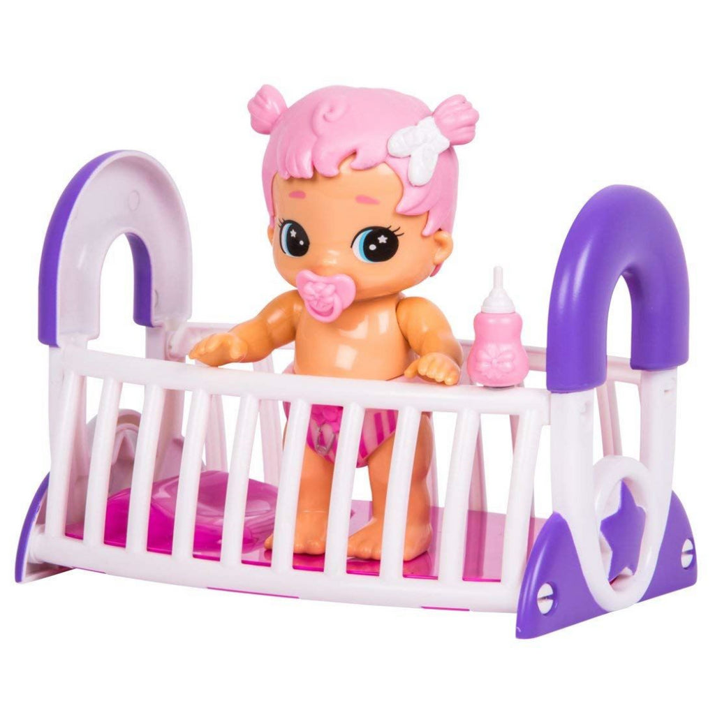 Little Live Bizzy Bubs Gracie Pink Hair Baby and Crib - Maqio
