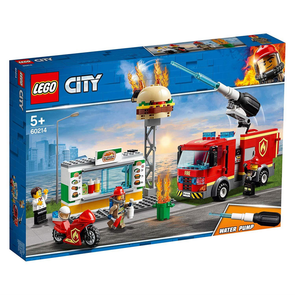 LEGO 60214 City Fire Burger Bar Rescue Construction Toy Playset - Maqio