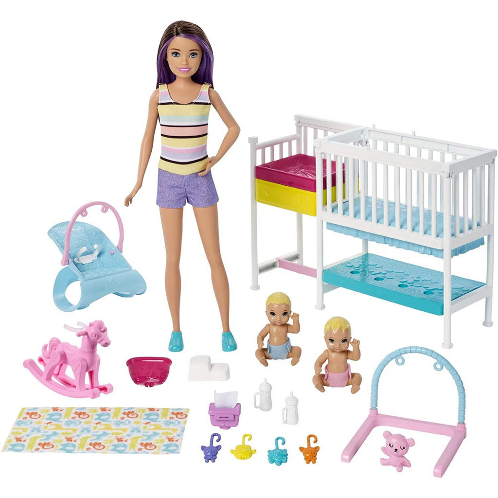 Barbie Skipper Nap n' Nurture Nursery Playset - Maqio