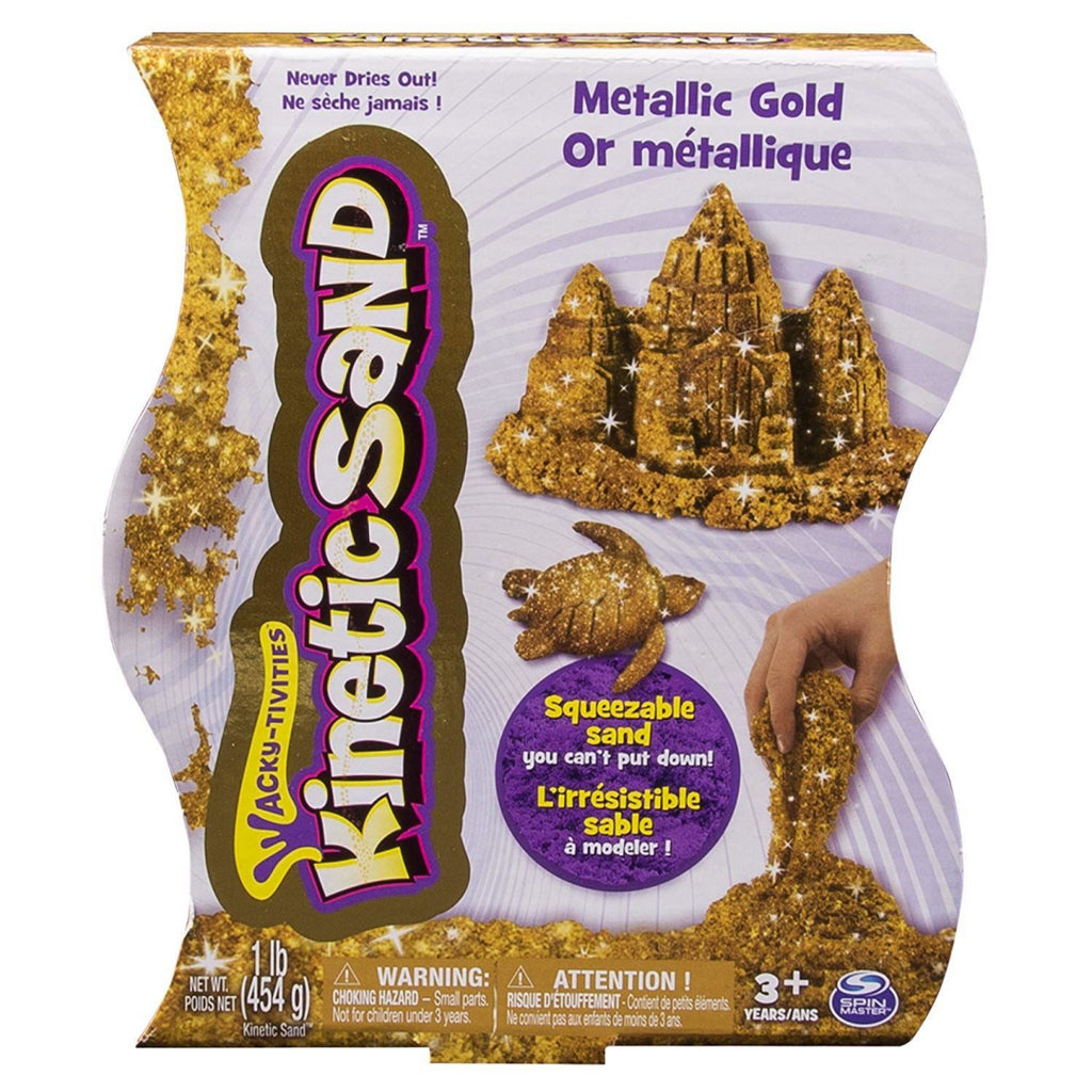 Kinetic Sand, 1lb (454g) Metallic Gold - Maqio