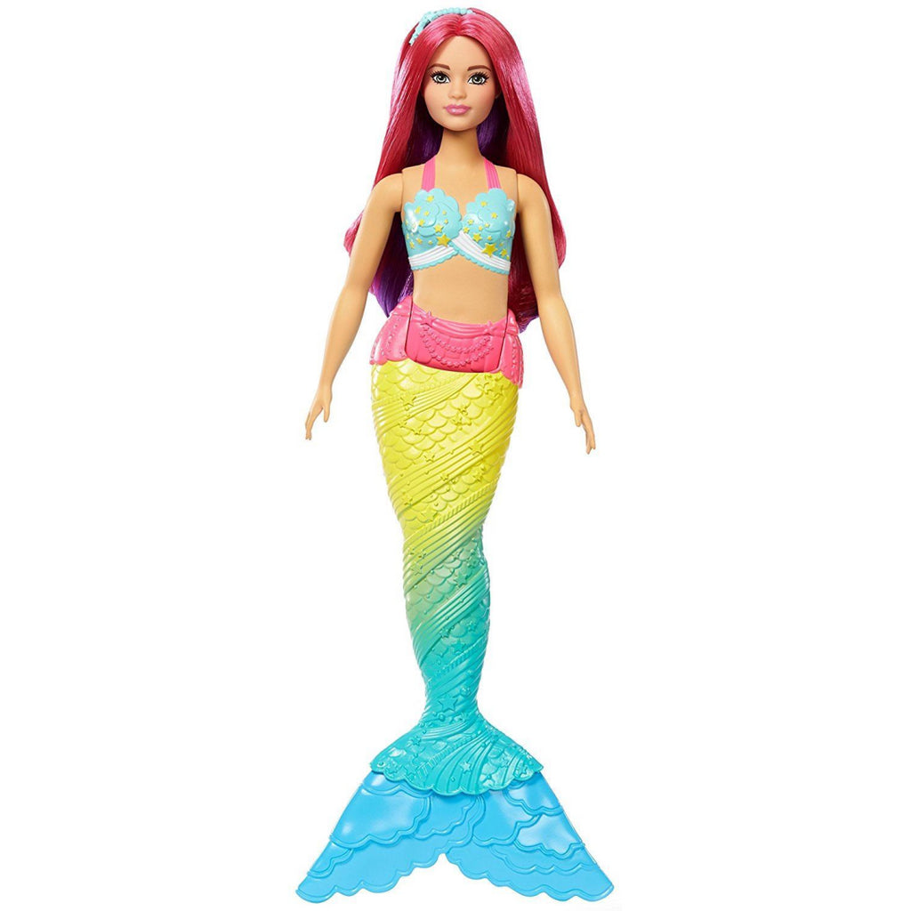 Barbie FJC93 Fantasy Rainbow Cove Mermaid Caucasian Curvy Dreamtopia Doll - Maqio