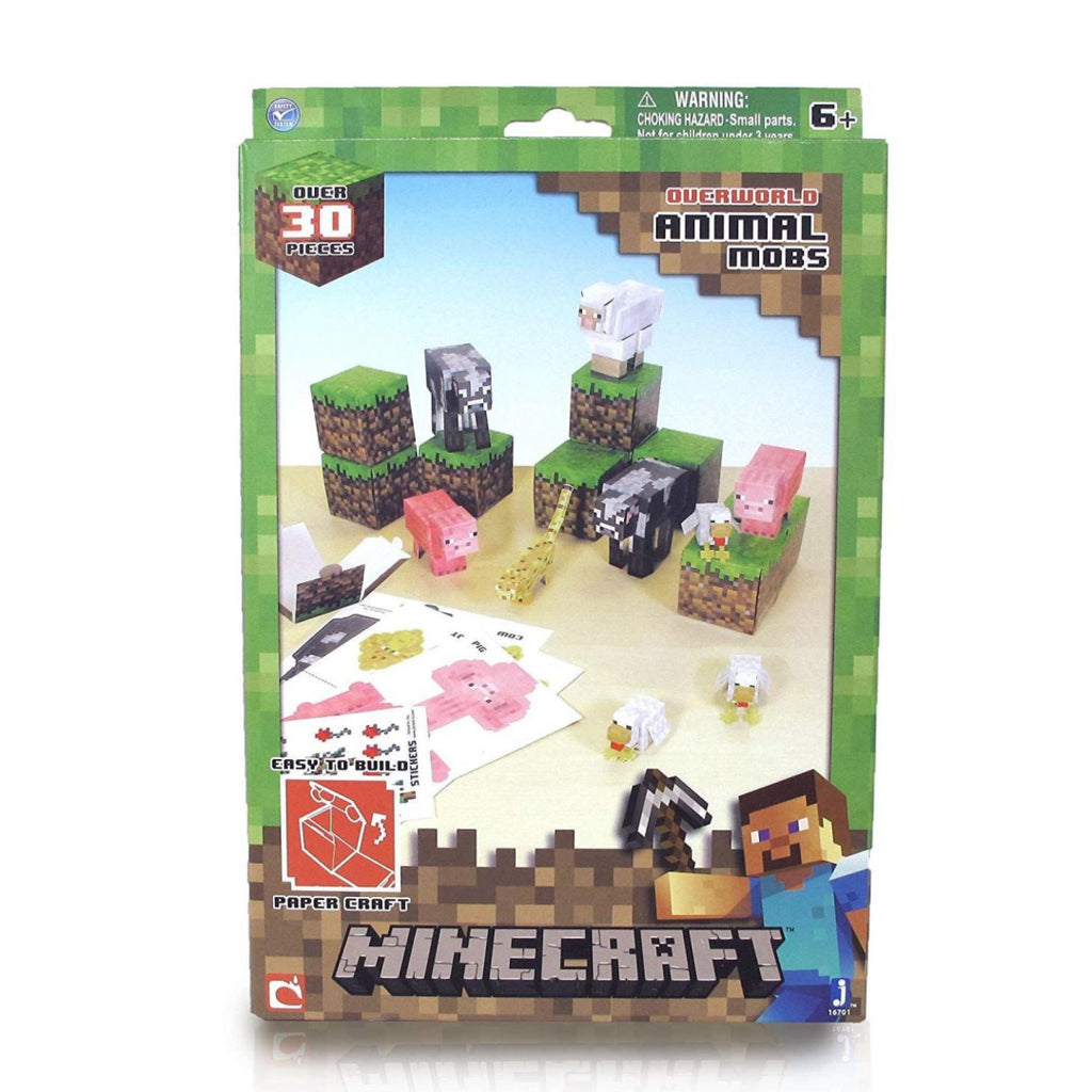 Minecraft Paper Craft Animal Mobs Set - Maqio
