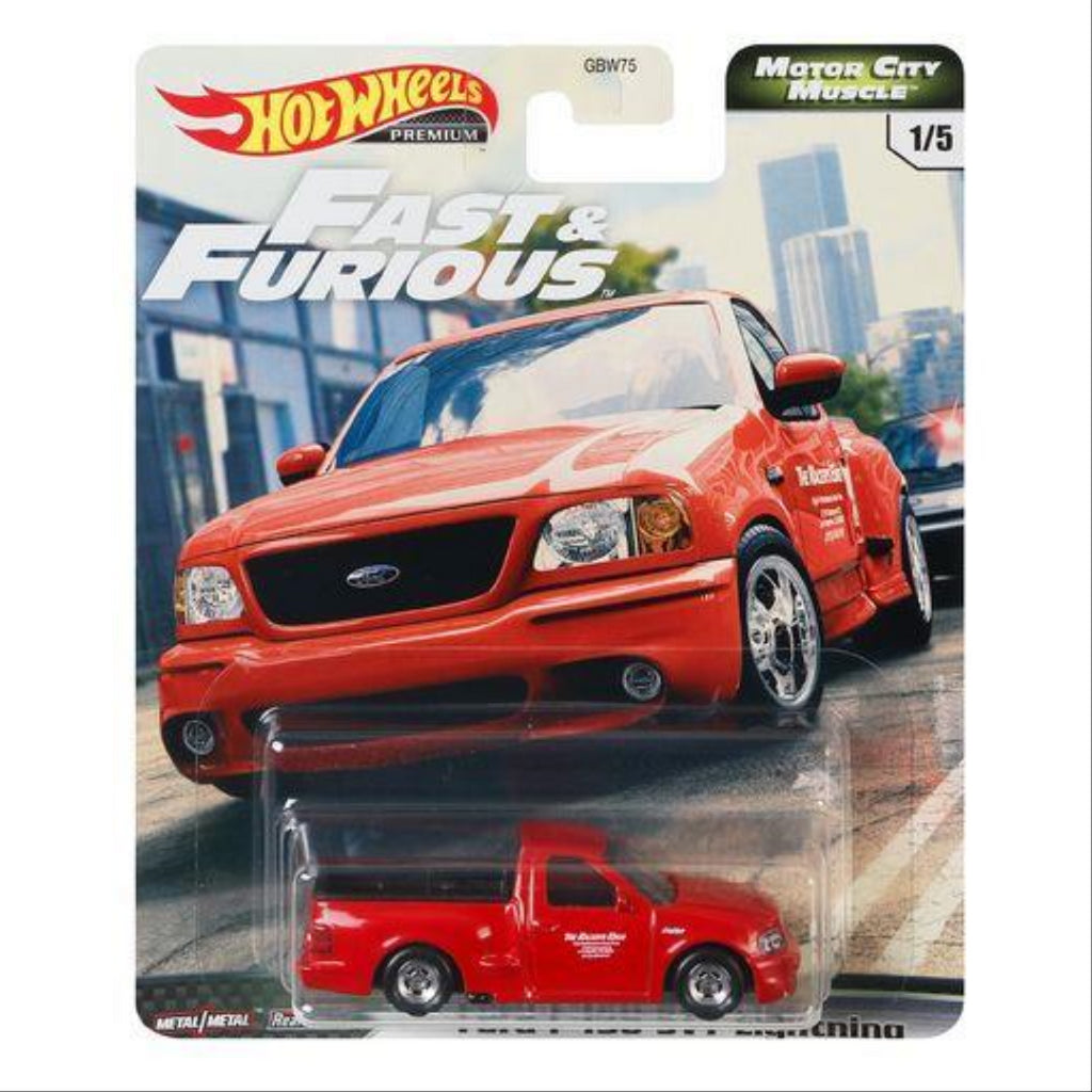 Hot Wheels Premium Fast & Furious Motor City Muscle Set of 5 Die Cast Vehicles GBW75 - Maqio
