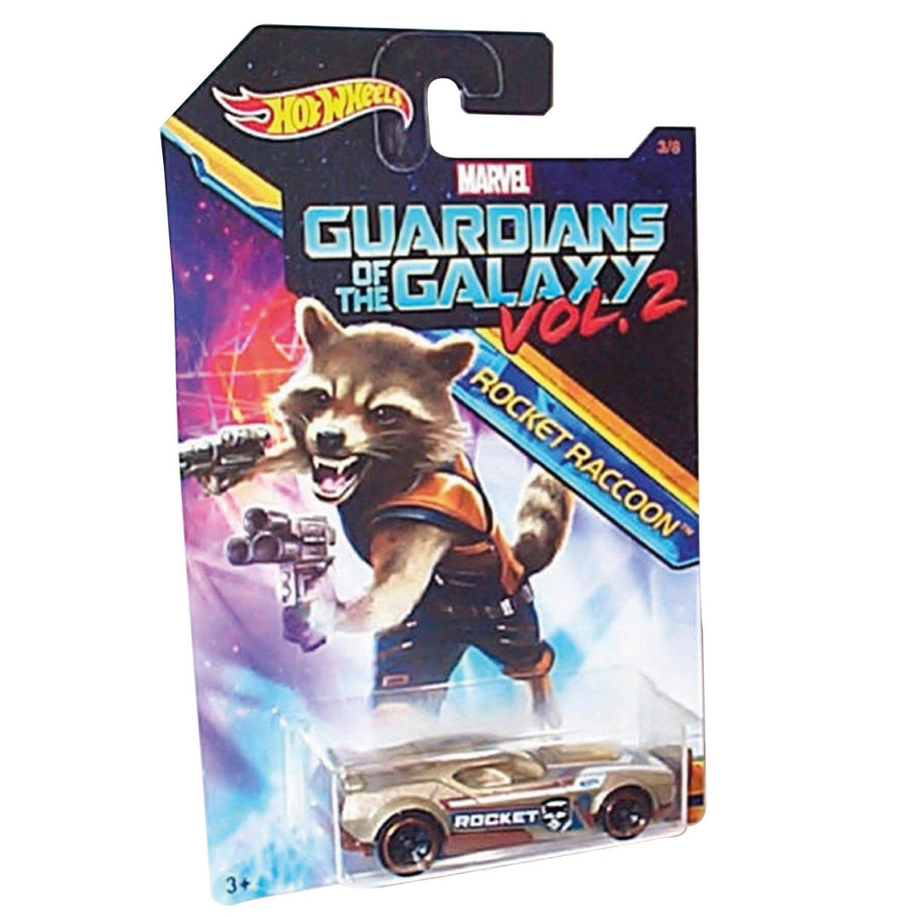 Hot Wheels - Guardians of the Galaxy Diecast Toy Car 3/8 Rocket Raccoon Fast Fis - Maqio