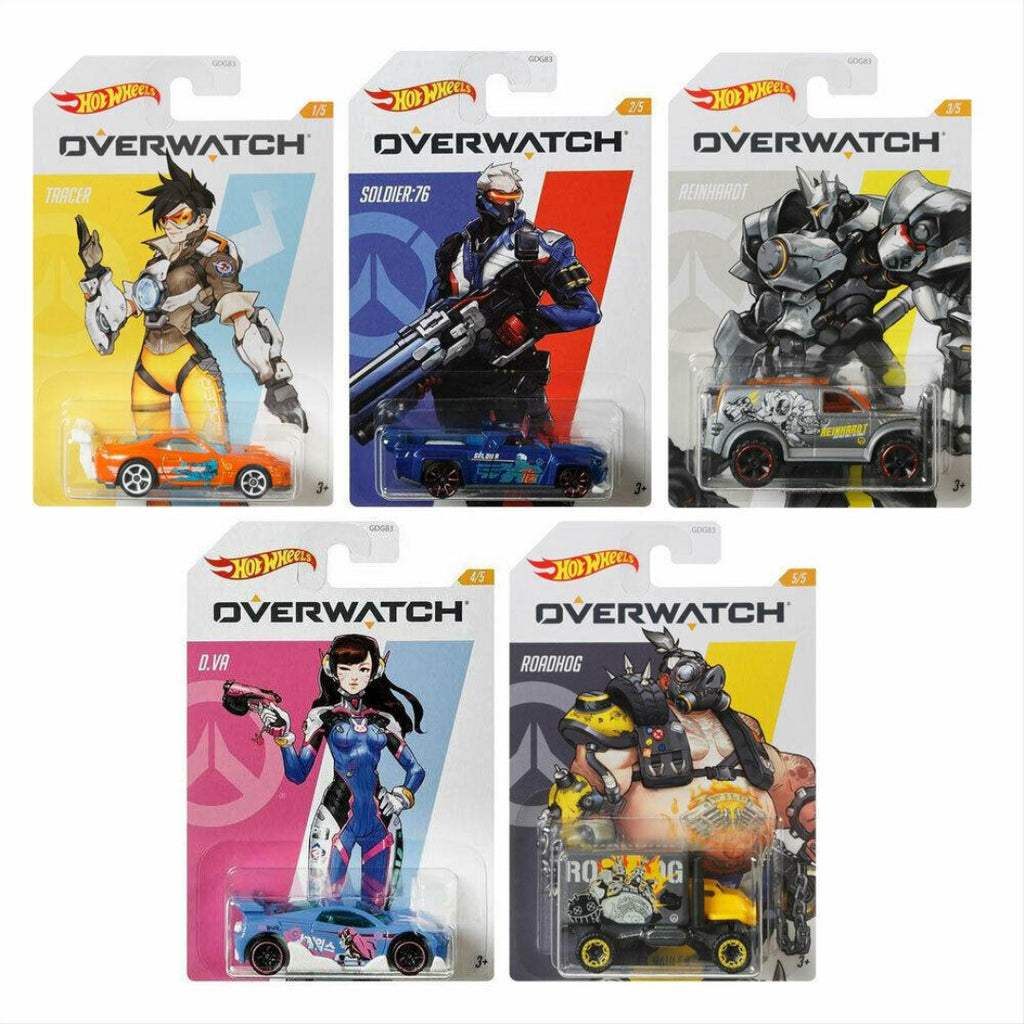Hot Wheels GWY15 Overwatch Vehicle Set of 5 Diecast Vehicles - Maqio