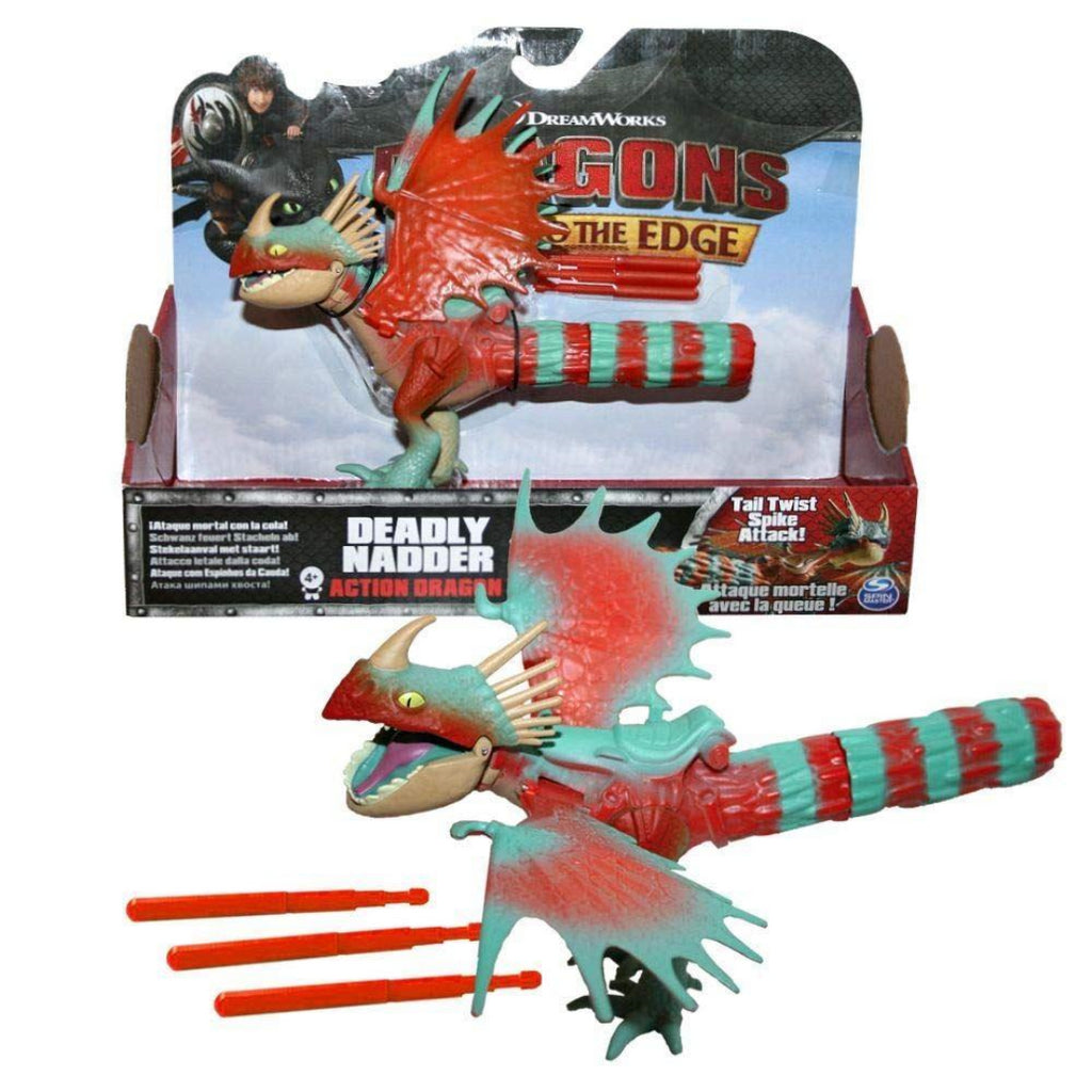 Dreamworks Dragons Deadly Nadder Spike Attack Action Figure Playset - Maqio