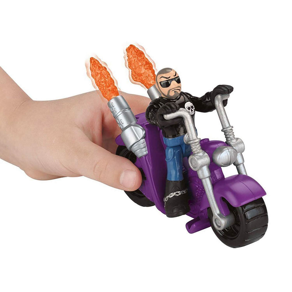 Fisher Price Y2796 Imaginext Burglar and Motorcycle Figure Playset Toy - Maqio