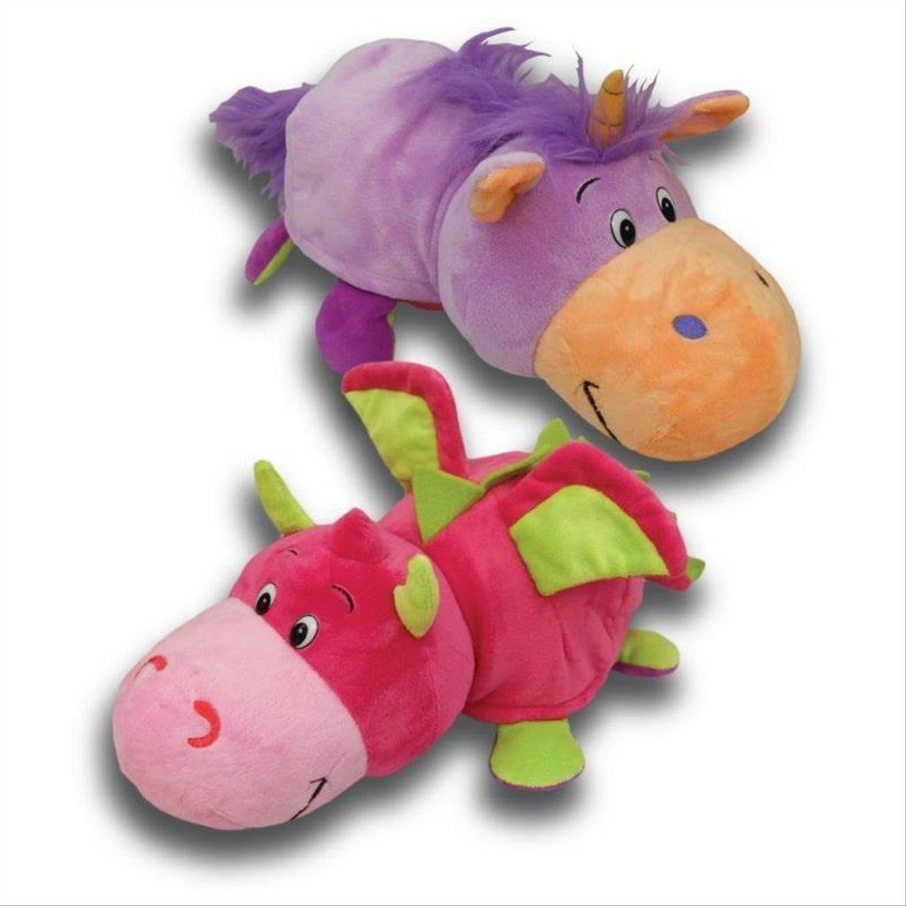 Flip a Zoo Purple Unicorn/Pink Dragon 2 in 1 Soft Plush Toy 026262 - Maqio