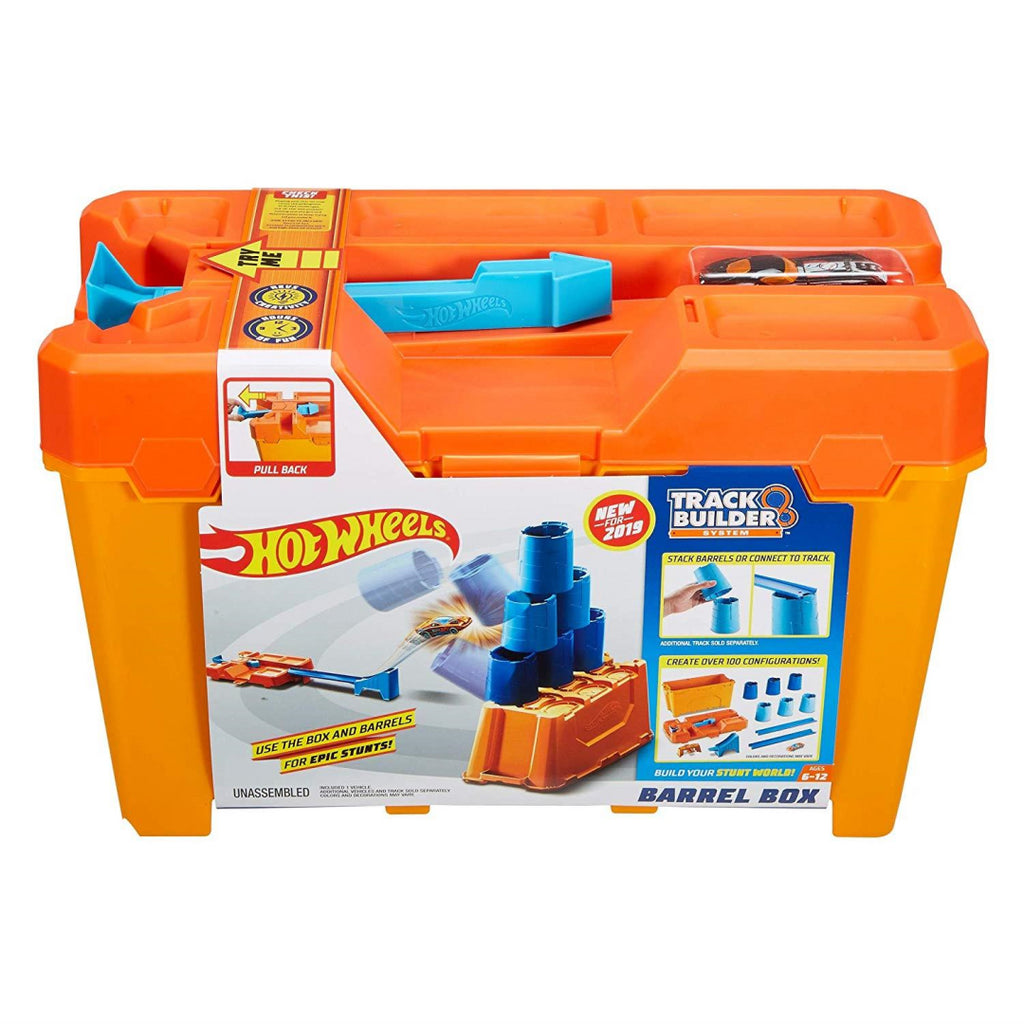 Hot Wheels GCF91 Track Builder Barrel Box - Maqio