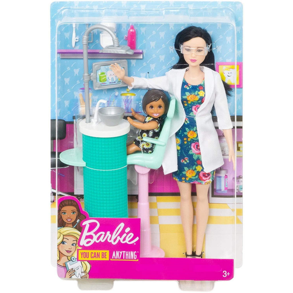 Barbie FXP17 Dentist Playset with Patient Small Doll - Maqio