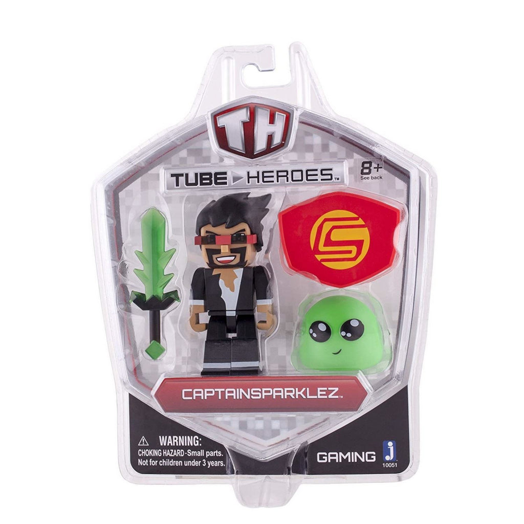 Tube Heroes 3-Inch Captain Sparklez with Accessory - Maqio