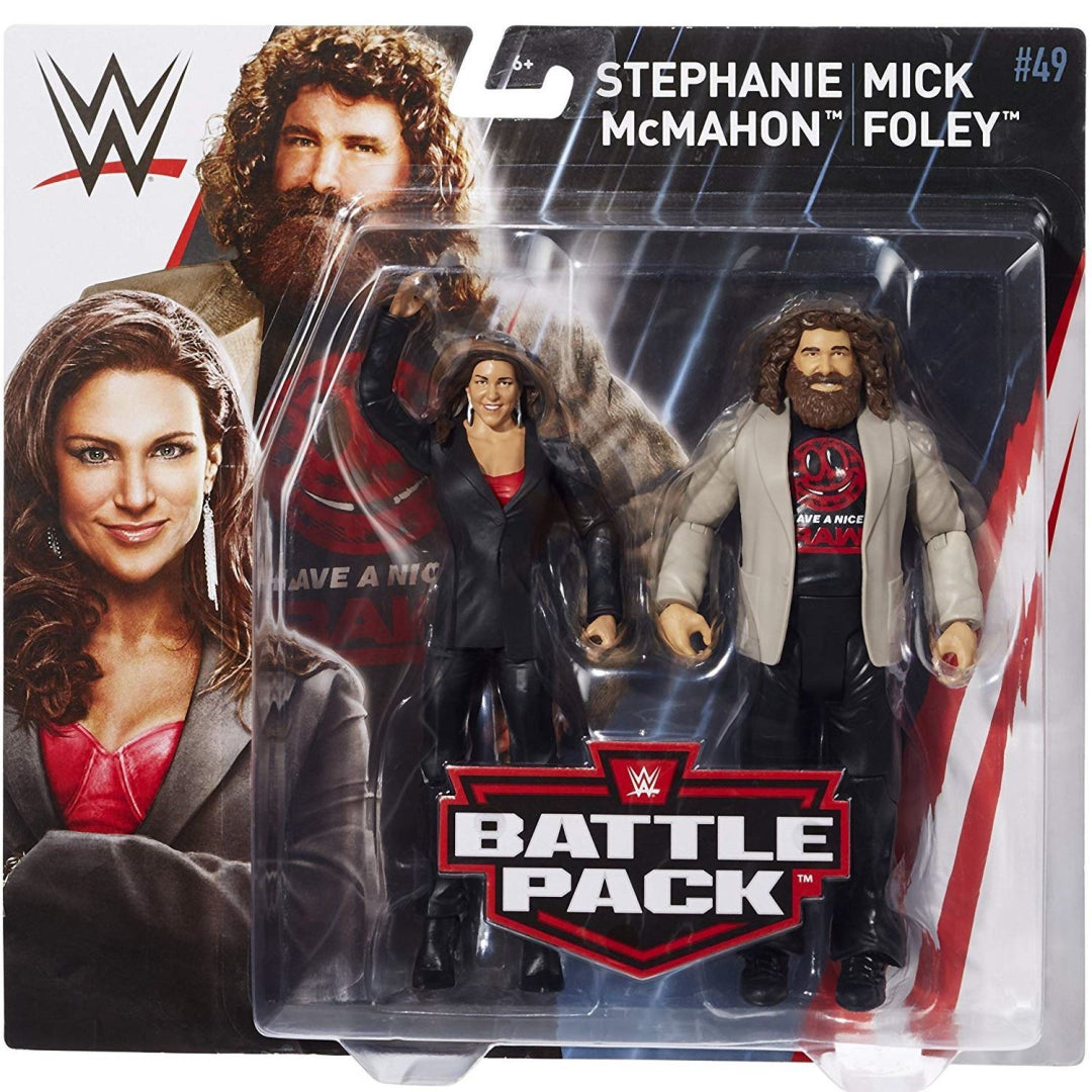 Mattel FMF66Mick Foley And Stephanie McMahon WWE Basic Figures Boys Pack of 2x