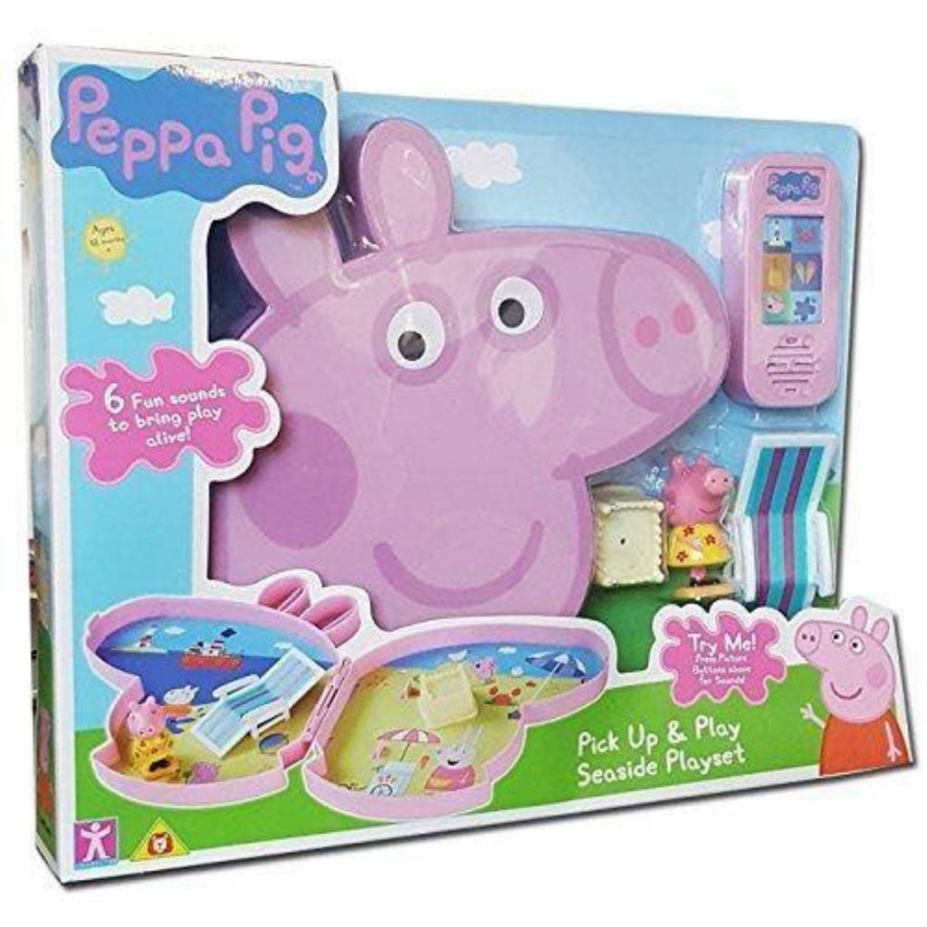 Peppa Pig Pick Up & Play Seaside Playset With Sound - Maqio