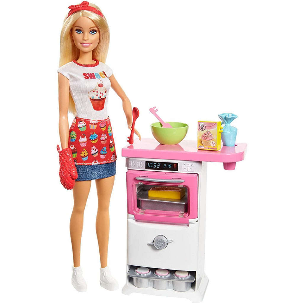Barbie Careers Bakery Chef Doll and Playset FHP57 - Maqio
