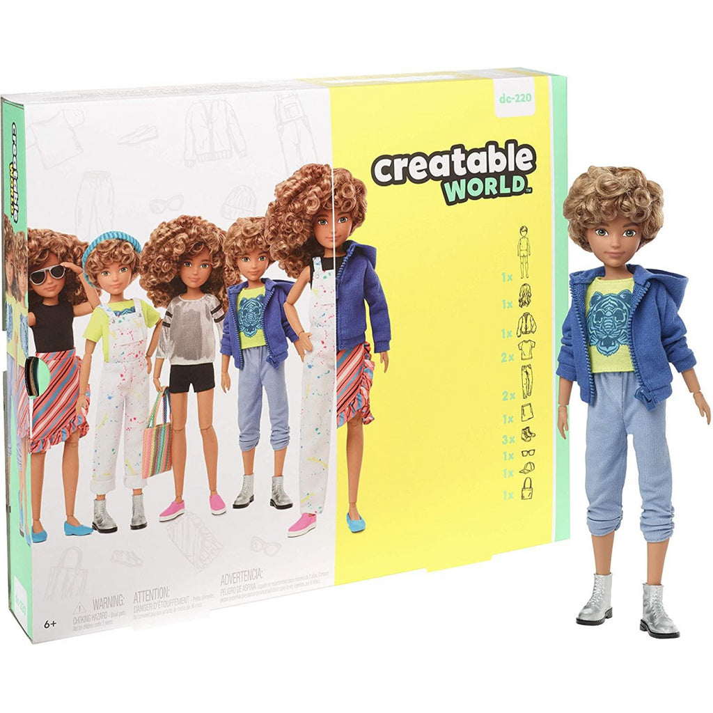 Creatable World Deluxe Curly Hair Character Kit - Maqio