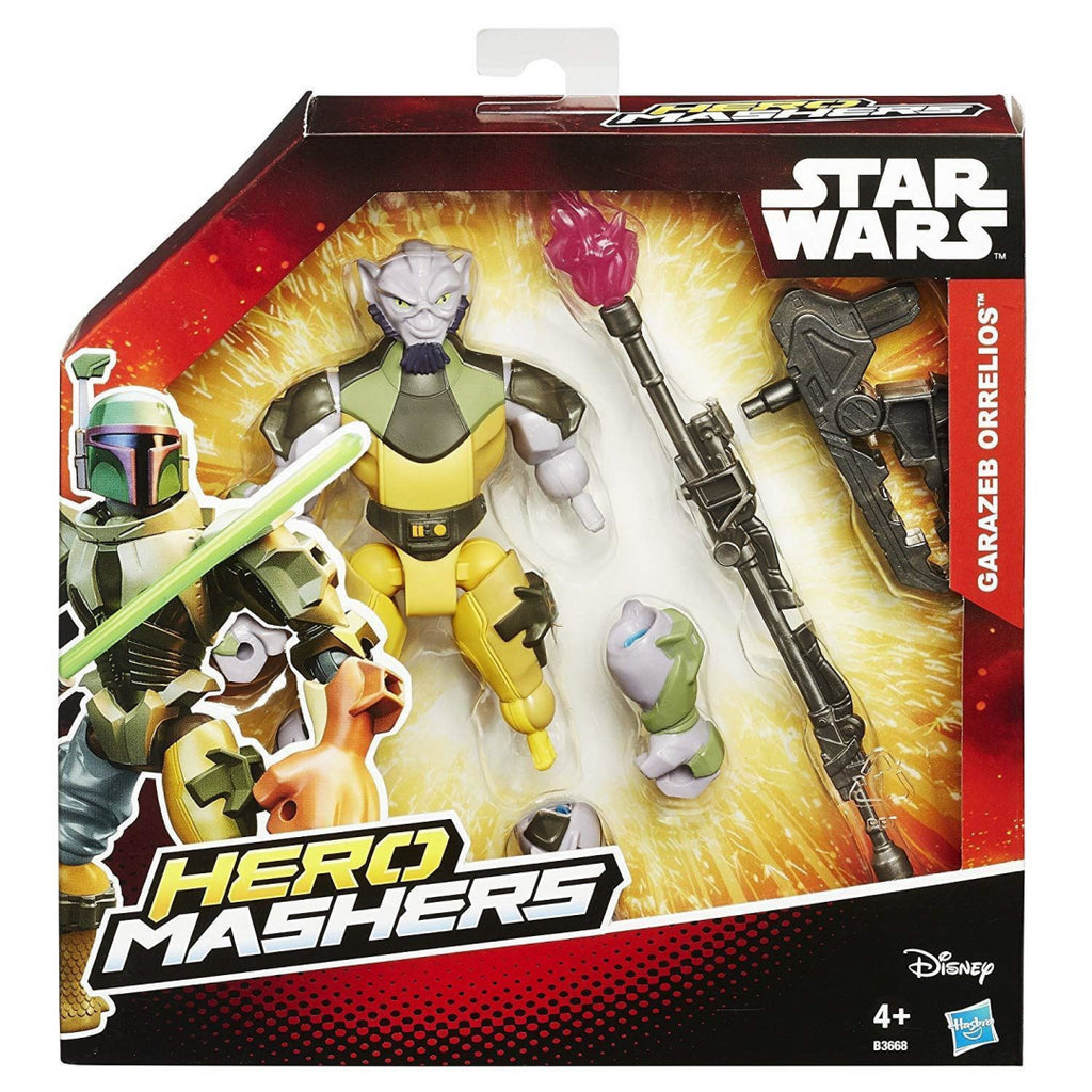 Star Wars Rebels B3668 Hero Mashers Garazeb Orrelios Action Figure Toy - Maqio