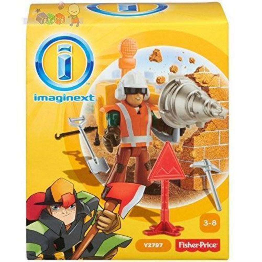 Imaginext City Construction Worker Y2797 - Maqio