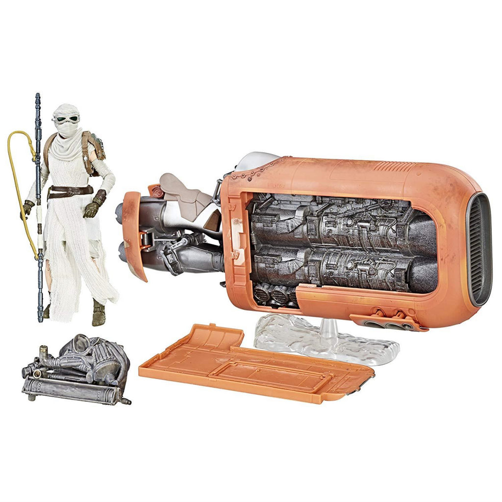 STAR WARS The Black Series Rey's Speeder Jakku Figure - Maqio