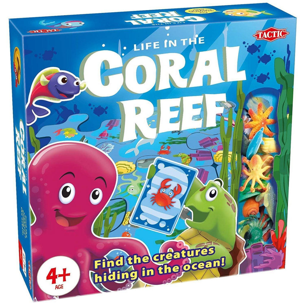 Tactic 54575 Coral Reef Kid's Interactive Board Game - Maqio