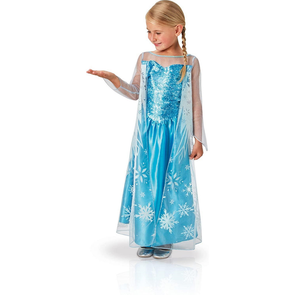 Rubie's 620975 Frozen Elsa Child Costume with Cape (Height 116cm, Age 5-6) - Maqio